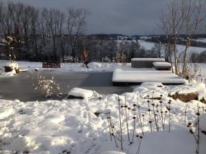 Schnee-Teich