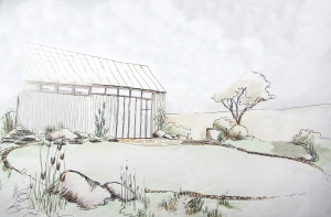 Gartenskizze Planung