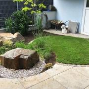 Runde Formen Beete Rasen