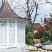 Gartenpavillon mit Meerjungfrau