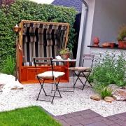Nordseefeeling im eigenen Garten mit Strandkorb
