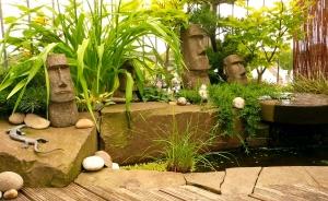 Wasserbecken Figuren